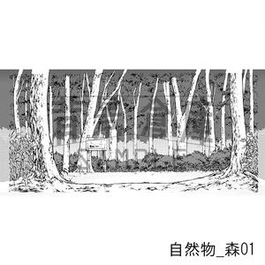 自然物の背景集_セット1(森)_トーン