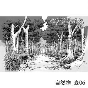自然物の背景集_セット3(森)_トーン