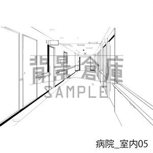 病院の背景集_セット2(室内)_トーン