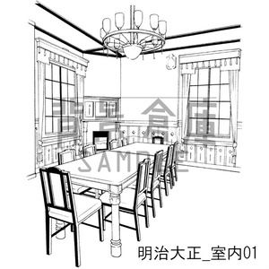 明治大正の背景集_セット3(室内 扉)