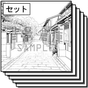 和風の背景集_セット25(街並)