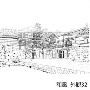 和風の背景集_セット26(外観)