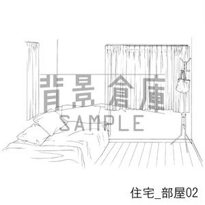 住宅の背景集_セット3(部屋 寝室)