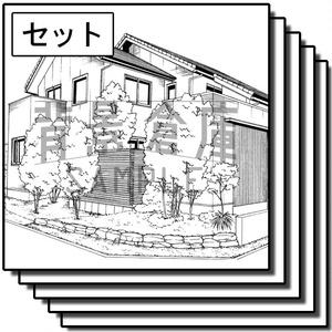 住宅の背景集_セット7(外観)