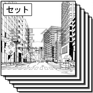 オフィス街の背景集_セット3(街並)