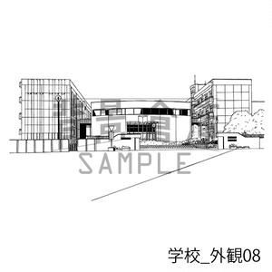 学校の背景集_セット15(外観)