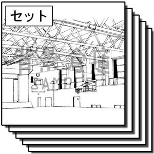 学校の背景集_セット17(体育館)
