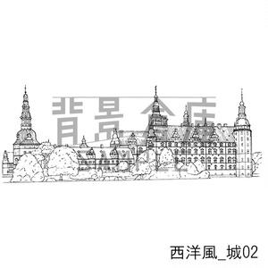 西洋風の背景集_セット4(城)