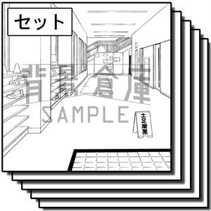 学校の背景集_セット18(体育館)