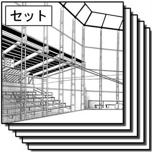 学校の背景集_セット19(グラウンド)