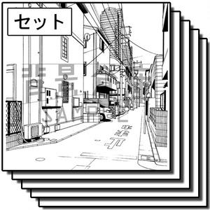 住宅の背景集_セット16(街並)