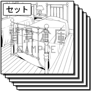 西洋風の背景集_セット6(寝室)