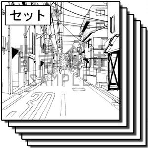 住宅の背景集_セット17(街並)