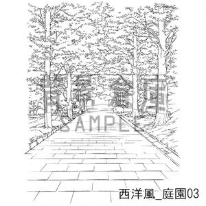 西洋風の背景集_セット8(庭園)
