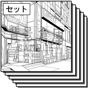 繁華街の背景集_セット6(街並)_高解像度版