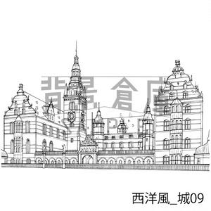 西洋風の背景集_セット9(城)