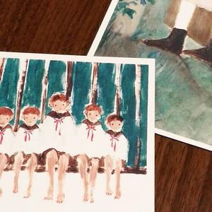 「だれが天使になる」ポストカード