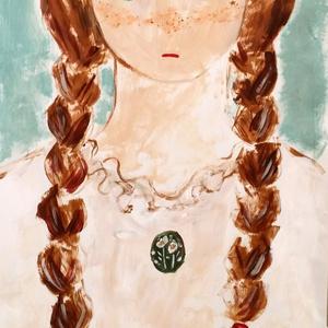 「ジェミニのブローチ」(モスグリーン)