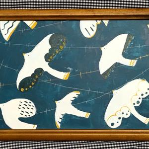 原画「夜、わたる鳥」