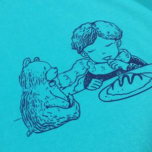 aoiao BOOKs オリジナルTシャツ(いっしょに食べる)