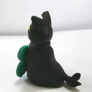 黒ねこカンちゃん人形(クローバー)