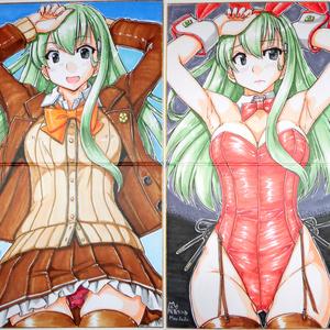 2つ折り色紙 鈴谷(3)