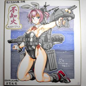 色紙 不知火バニー(3)