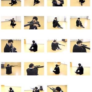 左利きキャラのためのライフルポーズモデル集 vol.9 <座って膝射 sitting kneeling>