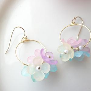 紫陽花のピアス・A