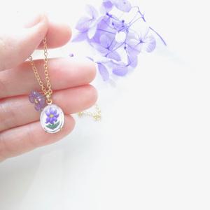 *ヴィンテージ* バルコニーフラワー 紫