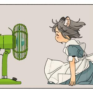 アクリルフィギュア扇風機セット