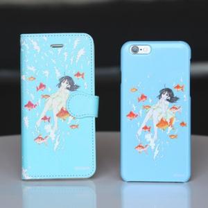 【iPhone】金魚とおんなのこ【手帳型ケース】