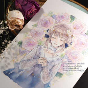 DLイラスト「Lease of roses in February」
