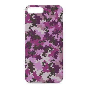 iPhoneケース 迷彩柄紫