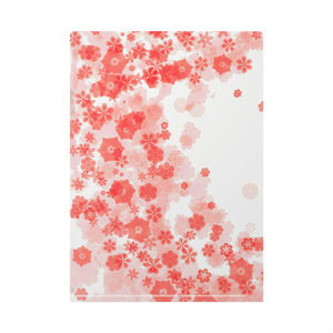 クリアファイル 雪の桜