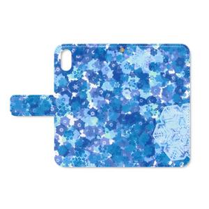 手帳型iPhoneケース 雪の結晶