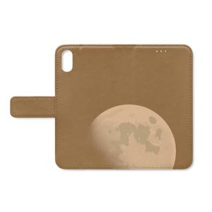 手帳型iPhoneケース 月