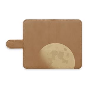 手帳型スマホケース 月