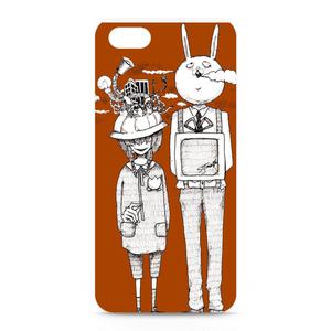 iPhoneケース 兎と少女。