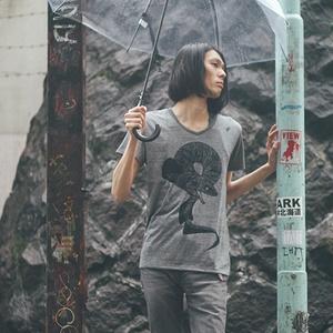 ラブカTシャツ/グレー