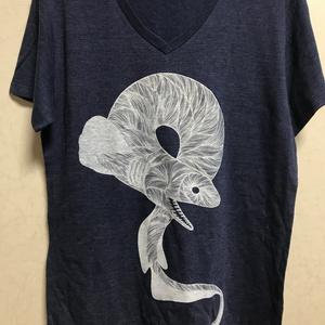 ラブカTシャツ/ネイビー×ホワイト