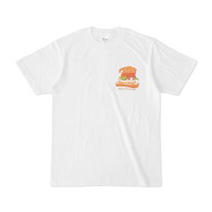 Tシャツ(ねこサンド・ワンポイント・背景なし)