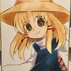 【東方】洩矢諏訪子【手描き色紙】