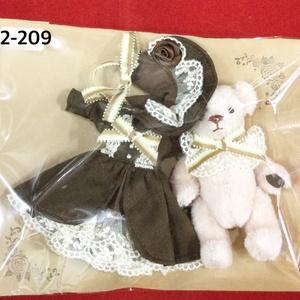 オビツ11サイズ ドレスセット(うさ耳)(ぬいぐるみセット)