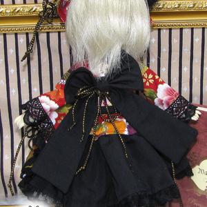 幼SDサイズドール用 狐耳着物ドレス