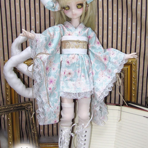 MSD / MDD サイズ 猫又着物ドレス