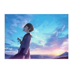 ポスター/青色の風
