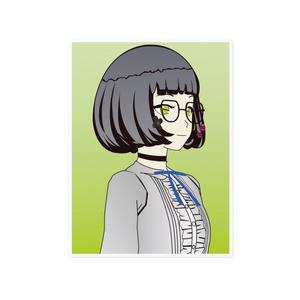 イェン円ちゃんステッカー(背景あり)