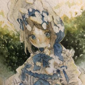 庭師(エマ・ウッズ 少女達の確執ver)水彩原画