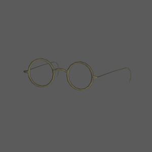 古びた丸眼鏡 △556 fbx うにぱけ